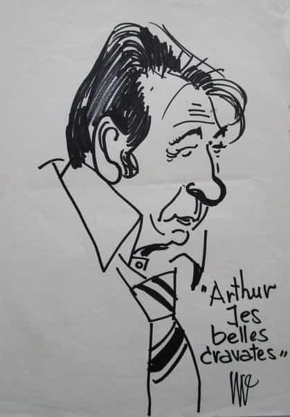Caricature de Berck par Jijé.