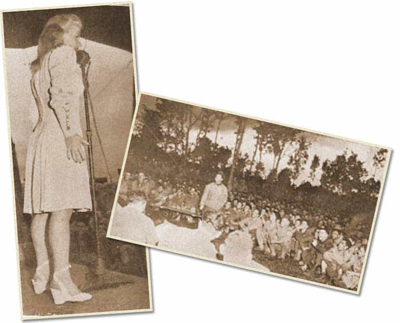 Bing Crosby, ses girls et son show à Mars la Tour, début septembre 44...