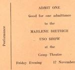 Concert Marlène Dietrich