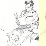 Portraits d'appelés et auto portrait daté du 21/8/43 envoyé à Roz