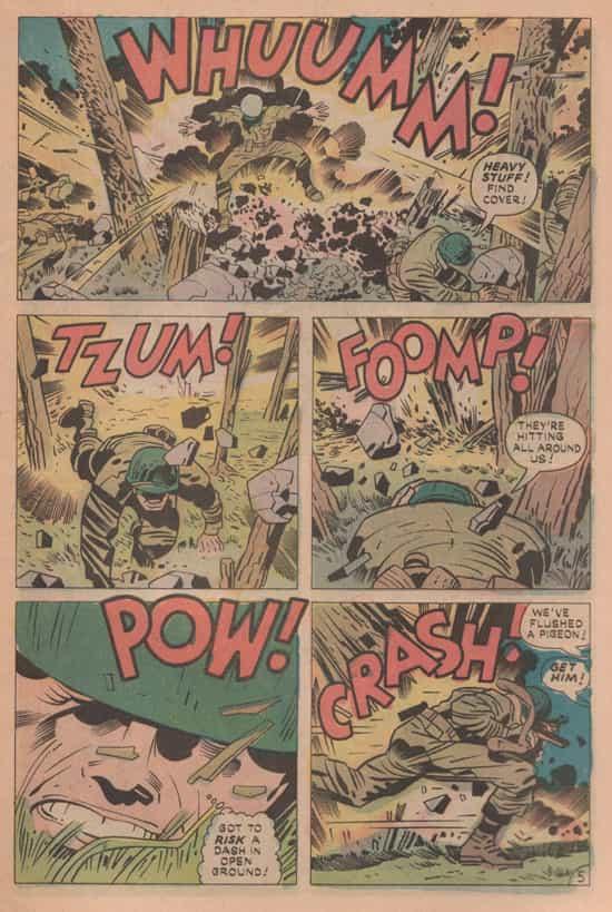 Le bois du « Fer à cheval », revu et corrigé pour Our Fighting Forces 151 (octobre 1974).