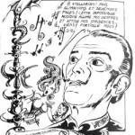 Dali, vu par Druillet, dans « Saint-Naufrage des Extases » (en collaboration avec Michel Demuth, 1966).