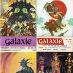 Quelques couvertures de Fiction et Galaxie. Druillet réalisait également les illustrations des livres de la collection Opta.