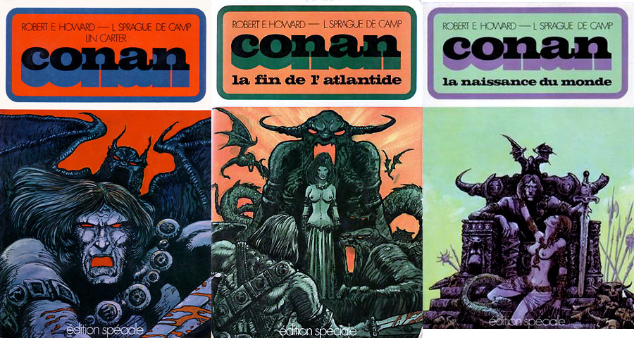 Les trois couvertures de Conan pour Édition spéciale, réalisées par Druillet.