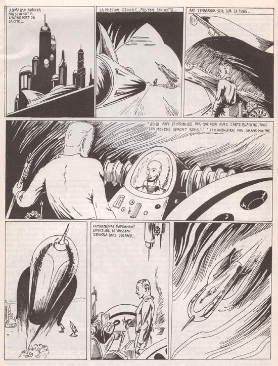 """Une copie de """"Flash Gordon"""", par le jeune Philippe Druillet (1961) !"""