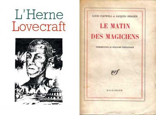 """Le « Cahier de L'Herne » spécial Lovecraft + """"Le Matin des magiciens"""" de Pauwels et Bergier."""