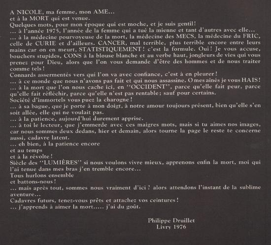 Le texte d'indroduction de « La Nuit ».