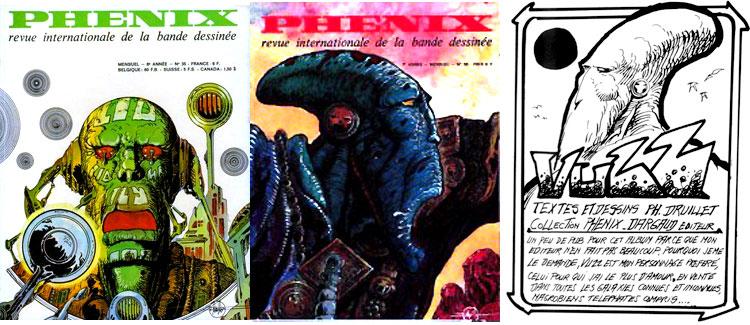 Vuzz, prépublié dans Phénix n°30 et 35 + une publicité pour l'album.