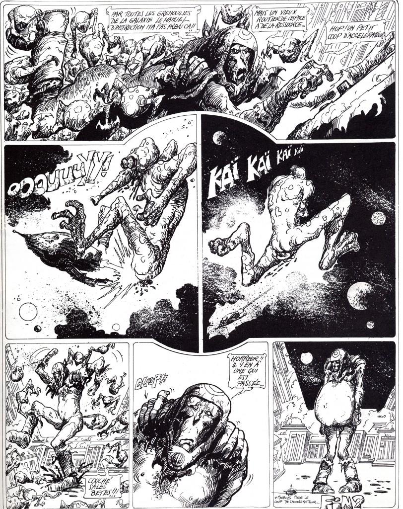 Bande dessinée de Philippe Druillet, en trois planches, publiée dans le n°1 de Métal hurlant,  au premier trimestre 1975.