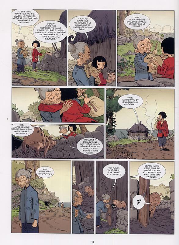 « Ling – Ling » T1 (« Le Bureau des rumeurs ») par Marc N'Guessan et Bertrand Escaich page 14