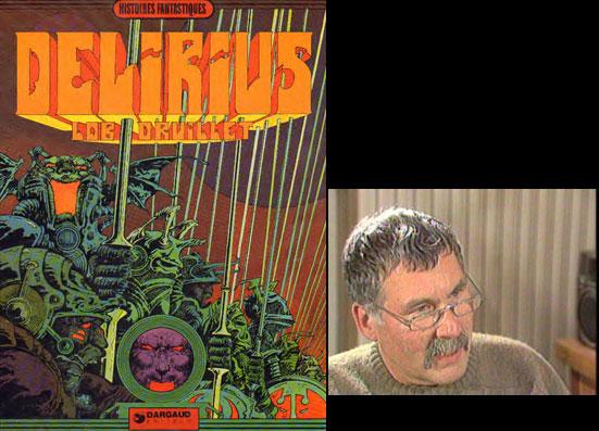 « Délirius » + photo de Jacques Lob.