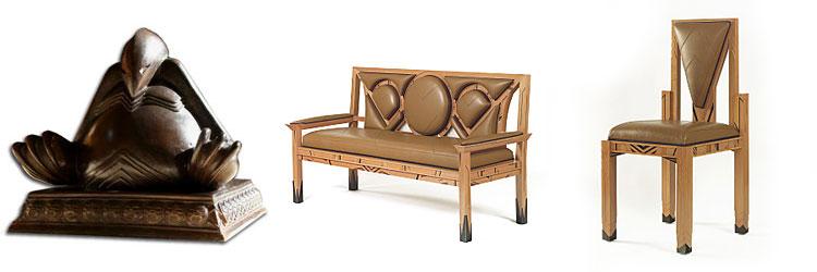 Mobiliers + bronze créés par Druillet