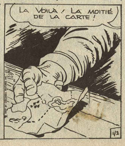 Une case de Zoom n°15 p.44... : du Kirby, avec la mention du copyright...