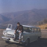 Pierre Christin aux USA, vers 1966.