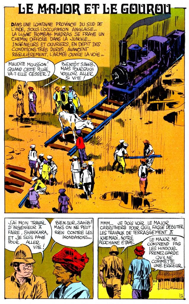« Le Major et le gourou » par Florenci Clavé et Linus, au n°21 de Total Journal (juin 1969).