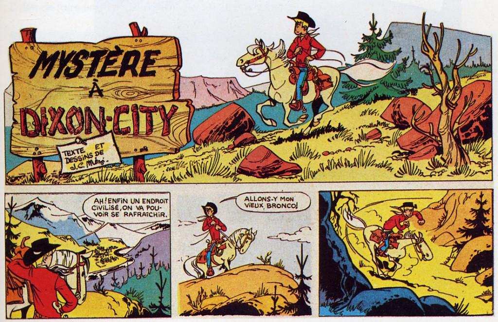 """Autres bandes publiées dans Fripounet et Marisette (au n°29 et du n°30 au n°37 de de 1957) : le désir de """"faire"""" du western est déjà manifeste..."""