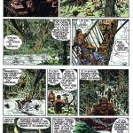 Les quatre planches du « Lac aux émeraudes » de Jean Giraud et Linus, au n°1 de Total Journal.