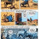Extrzit de « Les Vieilles histoires de tonton J.C. » : trois pages publiées dans un Spécial western de Tintin, en 1979.