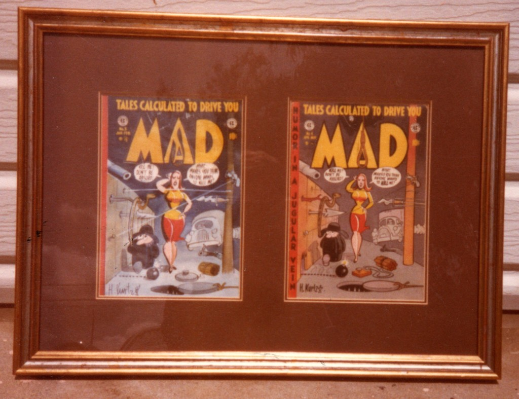 MAD #4 - rough & comic book