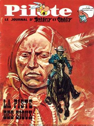 Couverture du n°427de Pilote, du 28 décembre 1967, avec « Blueberry ».
