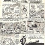 Planche originale de Une femme à la mer !!! (scénario et dessins de Jean-Claude Mézières), une page publiée au n°579 de Pilote, en 1970.