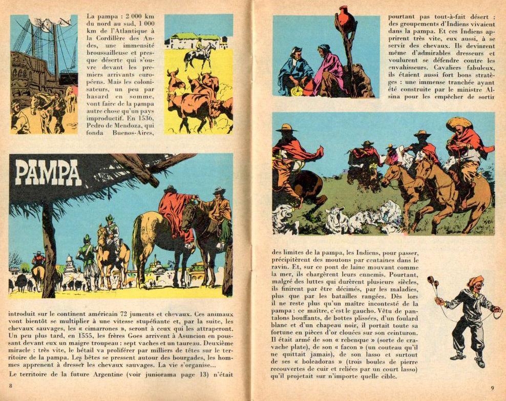 « Pampa » de Linus illustré par Eugène Collilieux, au n°14 de mai 1968.