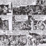 """Les deux premiers strips de  """"Scorchy Smith"""" par Kirby. Jack et Bob Farrell débutent le 22/5/1939 (ici, la deuxième bande), après le départ d'Howell Dodd et Frank Reilly (strip 1)... Reproduit à partir de l'édition française dans Supplément Tarzan 6/1950."""