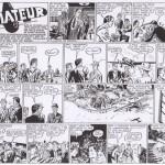 Cinq autres strips crayonnés par Kirby, intervenant plus tard dans l'histoire (malheureusement sans indications de dates). Reproduit à partir du récit complet collection Les Belles Aventures n°48 (éditions Mondiales, 1e trimestre 1946).