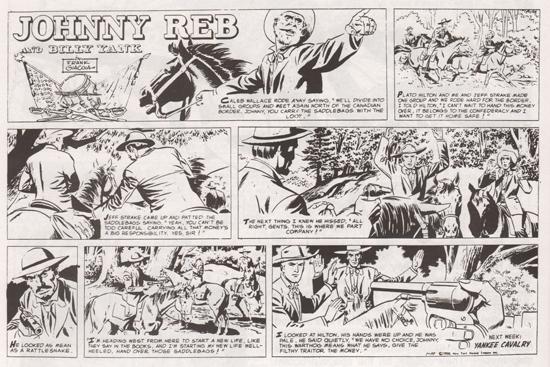 Deux pages du dimanche de « Johnny Reb and Billy Yank »
