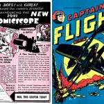 Une publicité pour Comicscope + Captain Flight Comics.