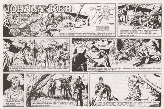 Deux pages du dimanche de « Johnny Reb and Billy Yank ».