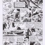 Sunday Pages du 22/12/57 et du 19/1/58 : probablement, les essais de Kirby (visibles dans la composition et les positions des personnages). Source : Smack n°5 (1968).