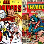 Le «All-Winners Squad» de All-Winners n°19 (1946) + couverture de Invaders n° par Kirby