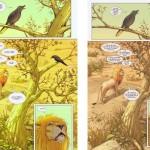 À gauche : la première planche version Panini. À droite : la même dans la nouvelle édition d'Urban Comics. Étonnant, non ?