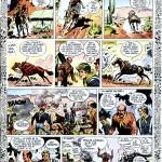 Planche gag de Jean Giraud et Jean-Michel Charlier réalisée à l'occasion du numéro spécial 1er avril de Pilote (le n°232 du 2 avril 1964). Cette planche ne sera évidemment pas reprise dans l'album « Fort Navajo ».