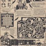 Dès 1961, l'hebdomadaire Pilote proposait une rubrique de jeux mettant en scène les personnages vedettes du journal.  Intitulée « Jouez avec » [ou « Jeux avec »], elle était illustrée par leurs créateurs, puis par Eddy Paape qui signait alors Péli. En 1967, c'est Jacques Devaux qui lui succède et qui mettra en scène 2 pages de jeux avec Blueberry, au n°384 du 2 mars.