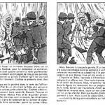 Extrait de « Cochise ». récit illustré par Georges Bourdin dans le cadre de la rubrique « Ils ont vécu une grande aventure » et publié dans le n°5 de Jeannot, en juin 1947. Ce sont exactement les mêmes scènes que dessinera Jean Giraud, en 1964, dans les pages de Pilote.