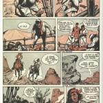 Planche 12 de l'épisode « La Route de Coronado » telle qu'elle est parue dans Spirou, en 1961 (les albums présenteront une version remaniée par crainte de la censure française) : l'encrage est de Jean Giraud.