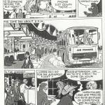 Une page du «  Voyage de monsieur Gulliver », réalisée pour Air France, en 1986.