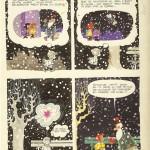 Quatrième et dernière planche originale du « Rêve de Noël de Petit Jean » (scénario de Maurice Rosy), publiée dans le n°1332 de Spirou, en décembre 1963.