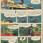 Première planche d'un récit complet de six d'« Éric et Artimon », paru dans le n°1506 de Spirou, en 1967.