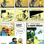 Planche annonce pour l'album « La Poupée ridicule », parue dans le n°1571 de Spirou, en 1968.