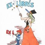 Ex-libris pour la librairie L'Autre Monde.