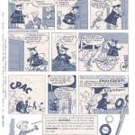 Publicité pour les pneus Englebert publiée dans Tintin, en 1959.