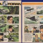Planches 5 et 44 de l'épisode « Chantage à la terre » dessiné par Jesús Blasco et José Larraz.