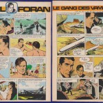 Planches 1 et 6 de l'épisode « Le Gang des vampires » dessiné par Jesús Blasco et José Larraz.