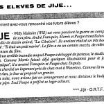 L'Âge d'or n°10  (décembre 1988), page 14.