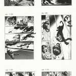 Les six pages de « Matu » réalisées pour le magazine Morning de l'éditeur japonais Kodansha.