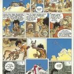Quatrième planche de « J'ai dix ans », scénario de Makyo, dans l'album « Du Souchon dans l'air » aux éditions Delcourt, en 1988.