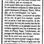 « Et Franquin créa la gaffe », éditions Distri BD-Y. Schlirf 1986, page 43.